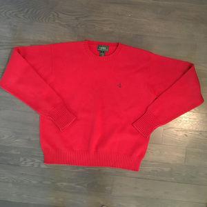 Lauren Ralph Lauren Red Crew Neck Sweater